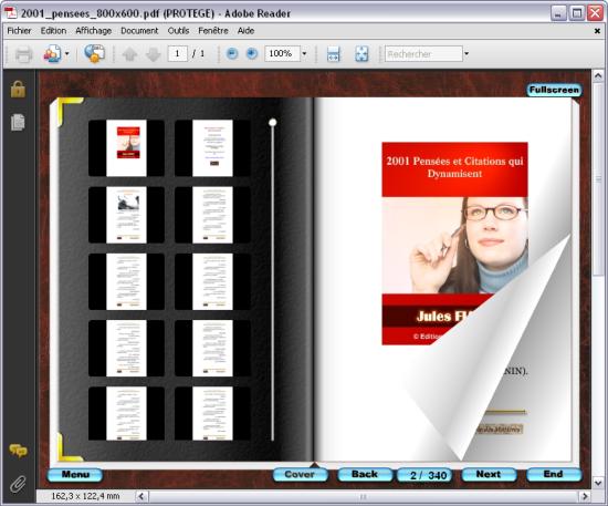 Capture écran lecture dynamique dynalivre PDF